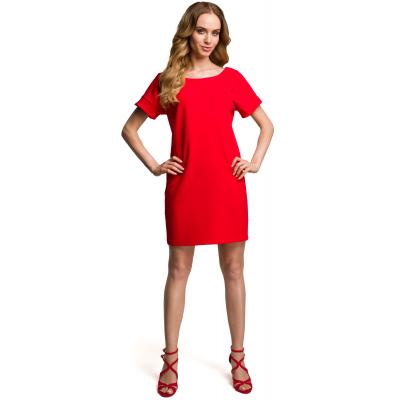 2fec6bf39a Sukienka mini z dekoltem na plecach czerwona M380