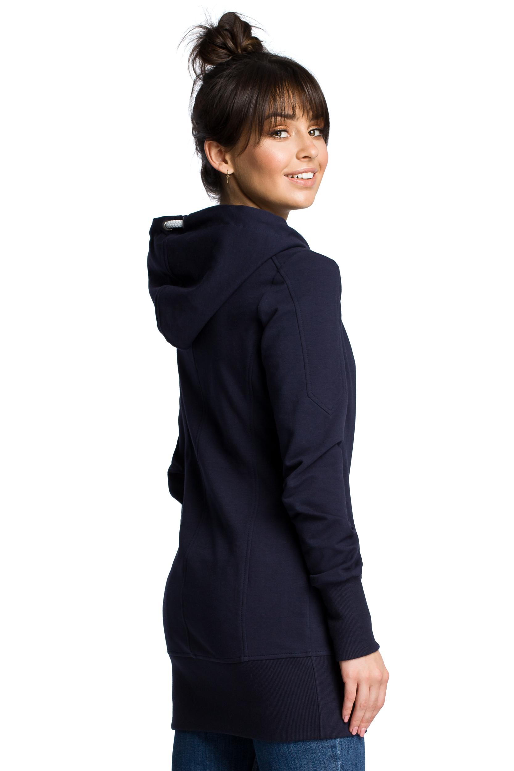 granatowa bluza damska z kapturem