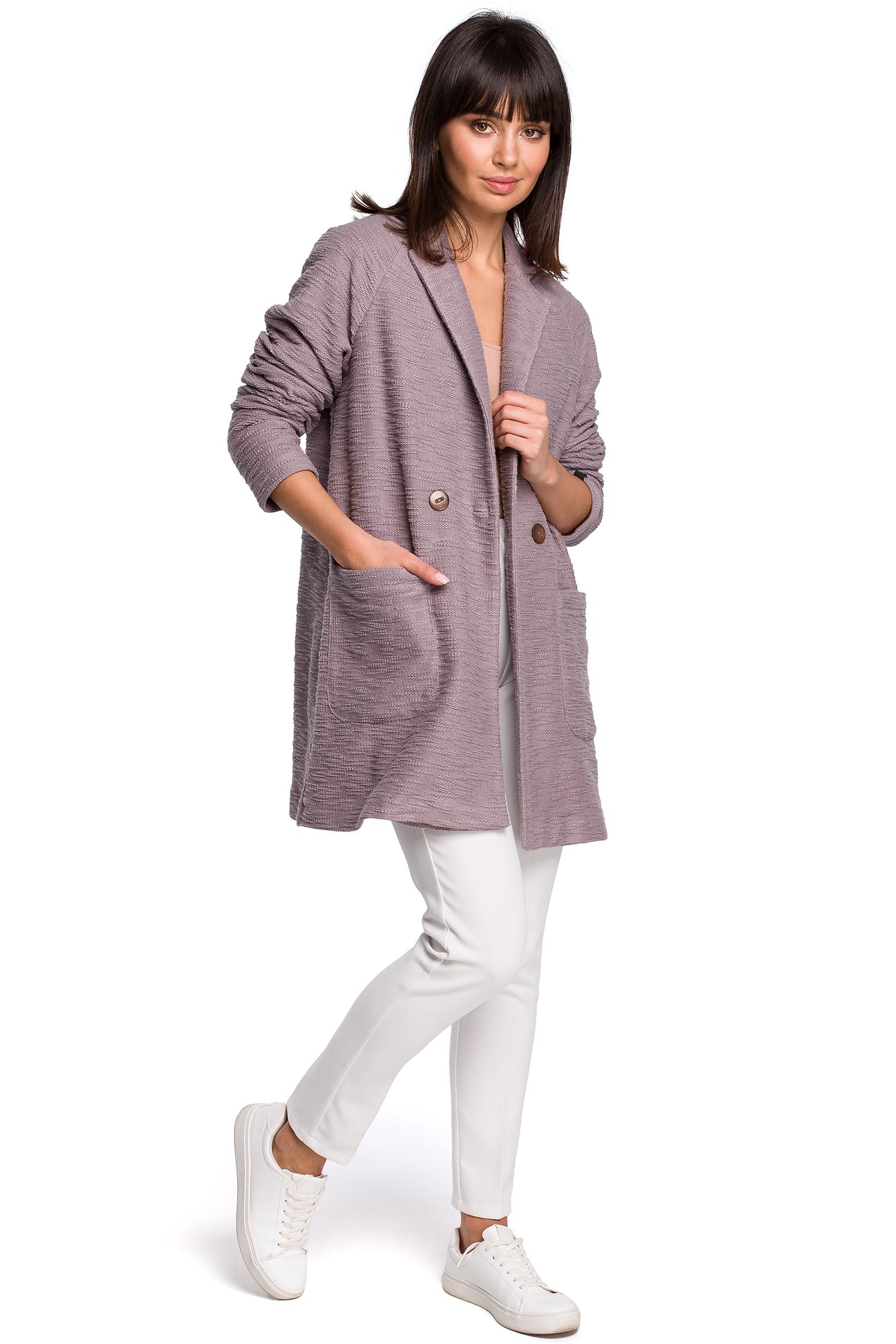 d127dcde3a33d Marynarki, swetry, kurtki. ‹ › Dzianinowy płaszcz – marynarka na wiosnę  zapinany na jeden guzik ...
